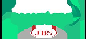 Logo do Projeto JBS Juntos pela Amazônia e branco e verde